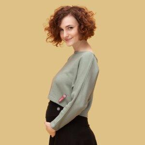 Umstands- und Still-Pullover kurz dick - stillfashion