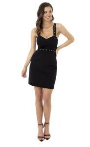 Nachhaltiges Strap Kleid schwarz - LANASIA