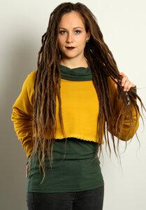Damen Kurzsweater aus Bio-Baumwolle - Die rote Zora