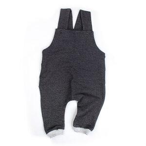 "BIO Latzhose ""Jeans black"" - Sternchenwolke"