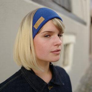 CARLY BASIC HB - Stirnband aus 100% Biobaumwolle in gelb, navy, ultramarin, terracotta, weinrot, navy - LDP Homemade