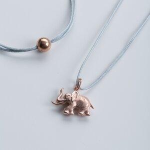 Vintage Unikat: Elefant mit Fadenkettchen, Roségold - MishMish by WearPositive