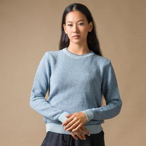 Recycelter Pullover aus Denim-Baumwolle - Lina - Rifò - Circular Fashion