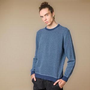 Recycelter Pullover aus Denim-Baumwolle Renzo - Rifò - Circular Fashion