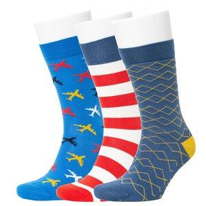3er Set Biobaumwoll Motiv Socken - Opi & Max