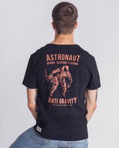 Herren T-Shirt Astronaut Fitness Anti Gravity schwarz - Degree Clothing