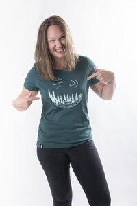 "Damen T- Shirt ""ELMondschein"" glazed green - ecolodge fashion"