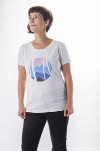"""Damen T- Shirt """"ELSchattierungen"""" in cream heather grey - ecolodge fashion"""