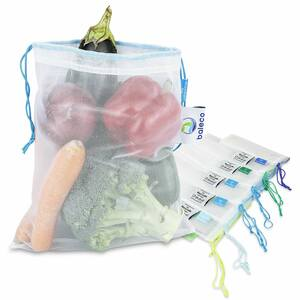 Obstnetze / Gemüsenetze aus recyceltem Material in 5 cleveren Grössen - baleco