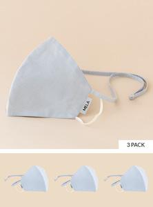 Behelfs-Mund-Nasen-Maske aus Bio-Baumwolle, unisex und schadstofffrei gemäß GOTS-Zertifizierung 3er Pack - MELAWEAR