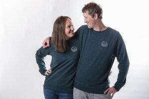 "Unisex Sweater ""ELStick"" in heather snow glazed green - ecolodge fashion"