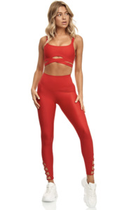 High-Waisted Leggings mit Cut-Outs - LANASIA