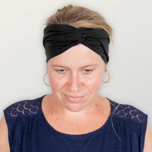 Stirnband / Bandeau aus Baumwolljersey (kbA) - HANDGEDRUCKT