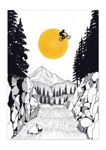 Poster Bike Jump matt - GreenBomb