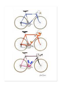 Poster Bike Retro Vibes matt - GreenBomb