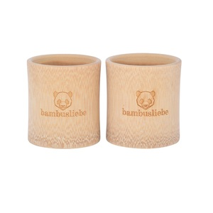 Bambus Zahnputzbecher (2er Pack) - bambusliebe