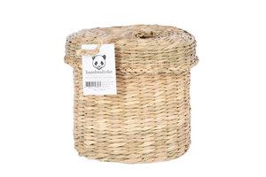 Seegraskorb rund mit Deckel - bambusliebe