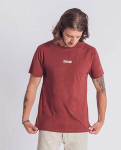 Herren T-Shirt aus Bio-Baumwolle - Logo - mahagony  - Degree Clothing