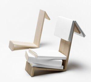 BUCHABLAGE LESEZEICHEN / Bookshelf Bookmark / sidebyside / German Design - Side by Side