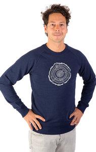 """Sweater aus Biobaumwolle Fairwear für Herren """"Treeslice"""" in Denim Blue - Life-Tree"""