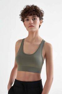2 er Pack Damen Bustier aus recyceltem Polyester Yoga Sport BH Top T1200 - True North