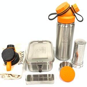 Halloween Special: JuNiki´s® Lunchbox + Trinkflasche isoliert 550ml mit Teefilter und Wechseldeckel - JN JuNiki's