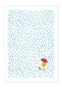 Poster Nature Rain Child matt - GreenBomb