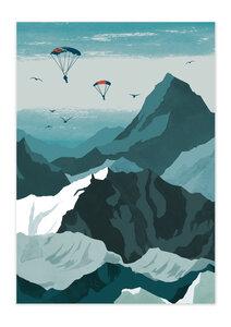 Poster Nature Sky Diver matt - GreenBomb