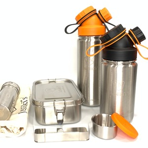 Halloween Special: JuNiki´s® Lunchbox + 2 Trinkflaschen isoliert 550ml + 420ml mit Teefilter und Wechseldeckel - JN JuNiki's