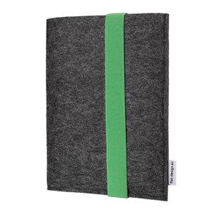 e-Book Reader Hülle LAGOA für Kindle - VEGANer Filz - anthrazit - flat design by Mareike Kriesten
