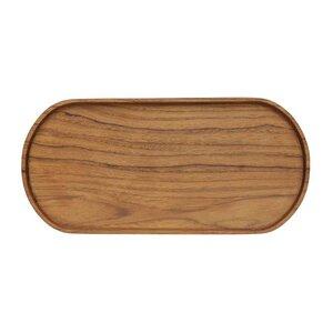 Ovales Tablett aus wiederverwertetem Teakholz - Originalhome