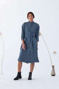 Hemd Kleid aus TENCEL  - Gunma Dark Slate - Blau - Suite 13