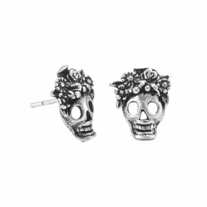 Ohrringe Silber Totenkopf Blumen Gothic Mexiko sustainable Fair-Trade - pakilia