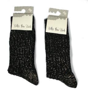 Woll-Baumwoll-Socken mit Glitzer - Bulus organic Textilien GmbH