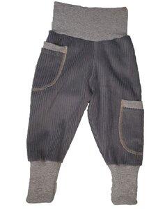 Kinder-/Baby-Mitwachshose aus Breitcord mit Taschen  - Omilich