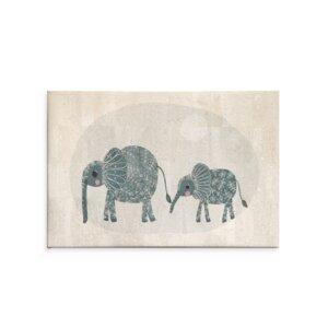 "Kunstdruck Wanddekoration Wandbilder aus Kork ""Elephants""  - Corkando / Kids"