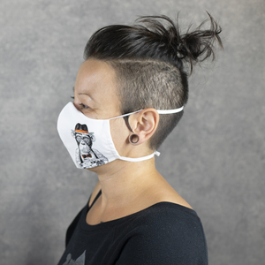 """Mund- & Nasenmaske """"Zivilcourage"""" und """"Toleranz"""" inkl. kleinem Zuziehbeutel - WEARETHEFUCKINGLEADERS"""