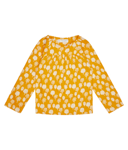 Mädchen LA Shirt gelb gemustert Bio Baumwolle Sense Organics - sense-organics