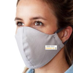 Waschbare Mund-Nasen Maske aus Baumwolle (OEKO-Tex); Innenmaterial wasserundurchlässig (OEKO-Tex); Atmungsaktiv; Weiche Ohrschlaufen; Damen und Herren - OrganicMom