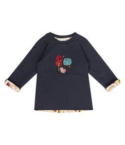 Mädchen LA Shirt dunkelblau mit Applikation Bio Baumwolle - sense-organics