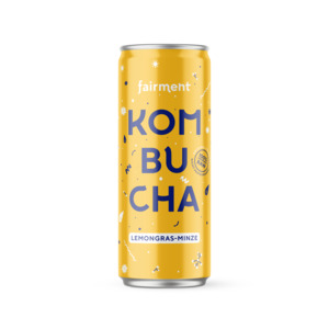 "Kombucha ""Lemongras-Minze"" in der 330ml Dose inkl. 3€ Pfand - bio, vegan, raw 12 Dosen - Fairment"