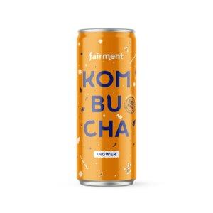 "Kombucha ""Ingwer"" in der 330ml Dose inkl. 3€ Pfand - bio, vegan, raw 12 Dosen - Fairment"