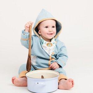"Baby-Sweatjäckchen aus Bio-Baumwolle ""Sweat Frost | Mini Jungle"" - Cheeky Apple"
