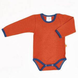 "Langarm-Body aus Bio-Baumwolle ""Jersey Uni"" - Cheeky Apple"