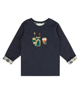 Baby LA Shirt dunkelblau mit Applikation Bio Baumwolle - sense-organics