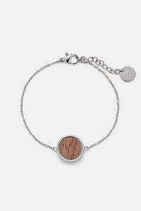 Armband mit Holzelement 'CIRCLE BRACELET' - Kerbholz