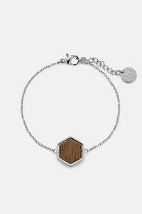 Armband mit Holzelement 'HEXA BRACELET' - Kerbholz