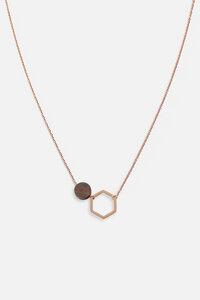 Halskette mit Holzelement 'TWIN NECKLACE' - Kerbholz