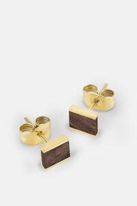 Ohrring mit Holzelement 'SQUARE EARRING' - Kerbholz