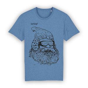 Bedrucktes Herren T-Shirt aus Bio-Baumwolle SKIFAHRER - karlskopf